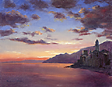 Sunset on the Ligurian Coast by Richard Yeager