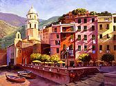 Morning in Vernazza by Richard Yeager