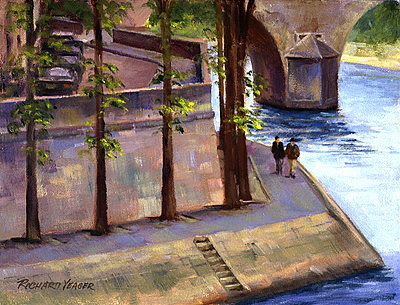 A Walk on the Seine Side by Richard Yeager