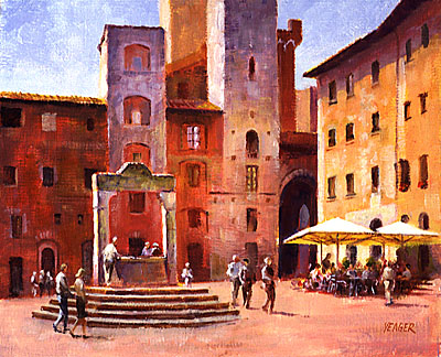 Piazza Della Cisterna by Richard Yeager