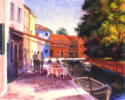 Rio Pontinello - Burano by Richard Yeager